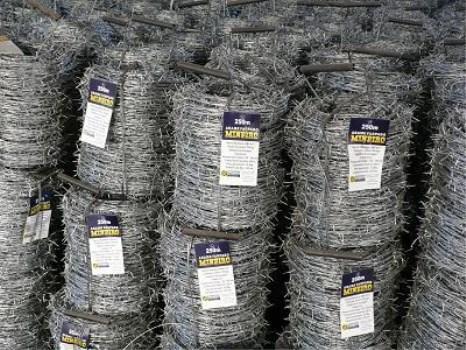 低价格的刺绳铁丝网菲律宾带刺的铁丝栅栏每米的重量
